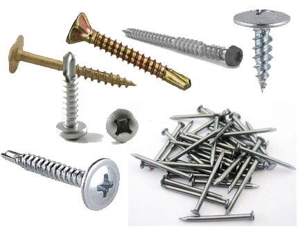 drywall screws nails